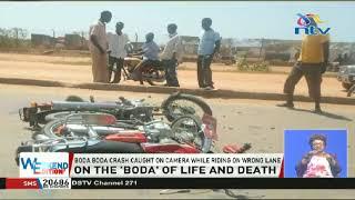 Boda boda crash caught on camera while riding on the wrong lane