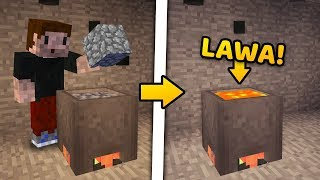 JAK ROZTOPIĆ COBBLESTONE? - Minecraft Caveblock 2.0