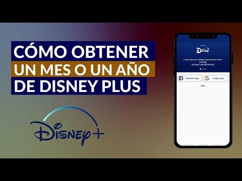 Cómo Contratar un Mes o un Año de Disney Plus