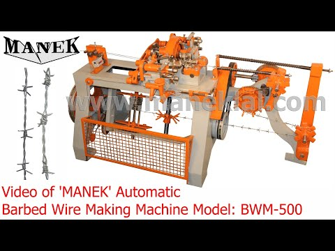 Manek - Barbed Wire Making Machine Model: BWM-500
