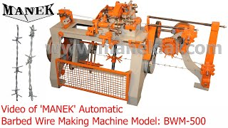 Manek - Barbed Wire Making Machine Model: BWM-500