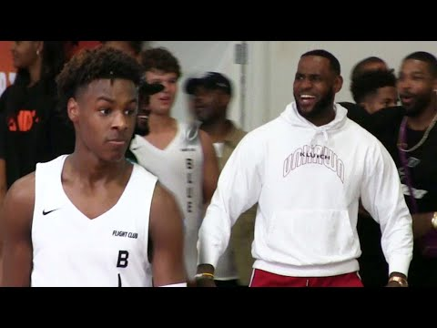 Bronny James HEATED GAME LeBron GOES CRAZY After ANKLE BREAKER And POSTER DUNK 😱