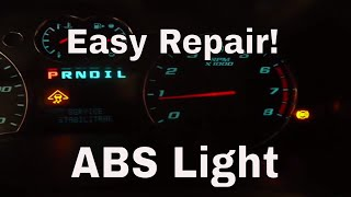 How to fix ABS light, Traction Control light, Service Stabiltrack light