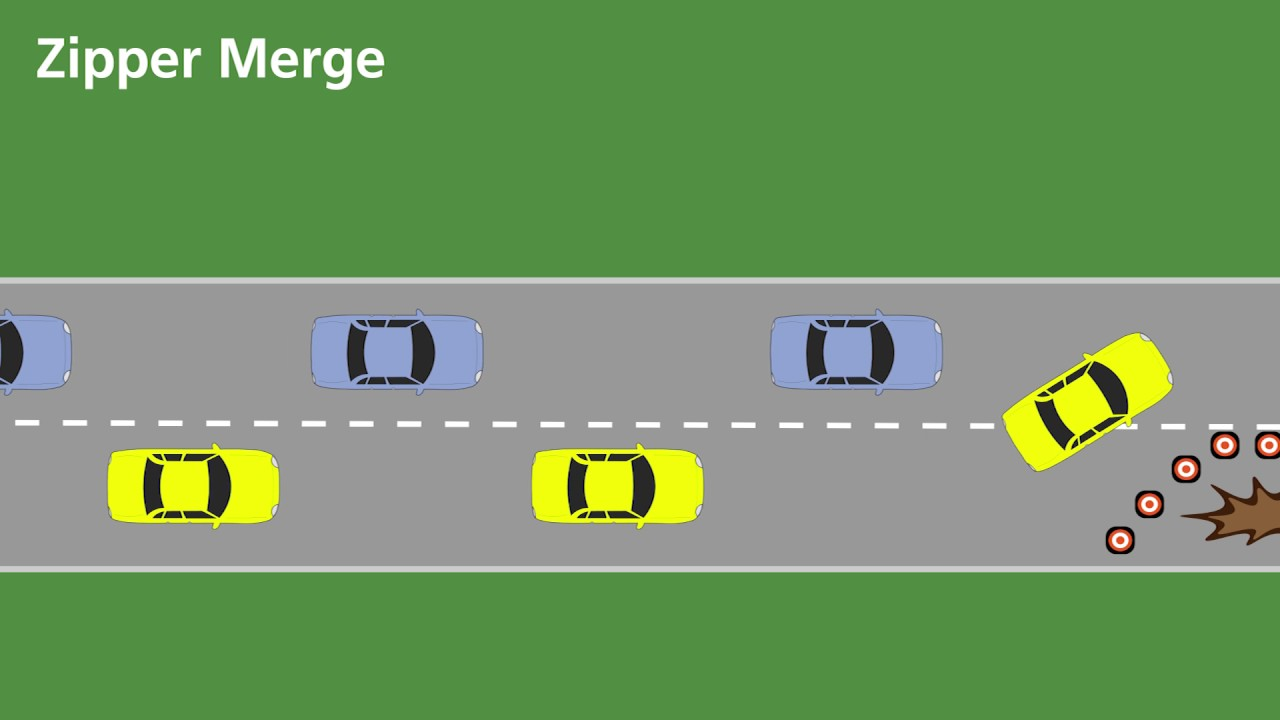 Zipper Merge Demonstration - YouTube