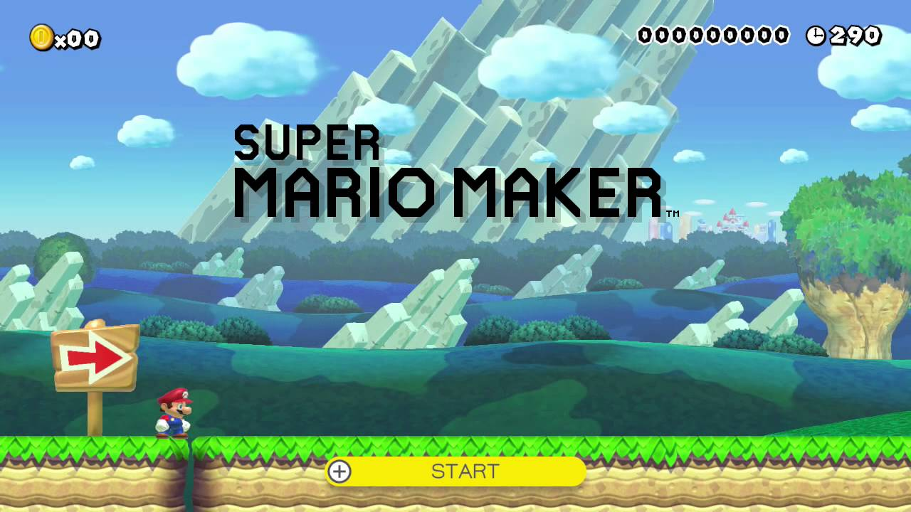 Image result for mario maker start screen