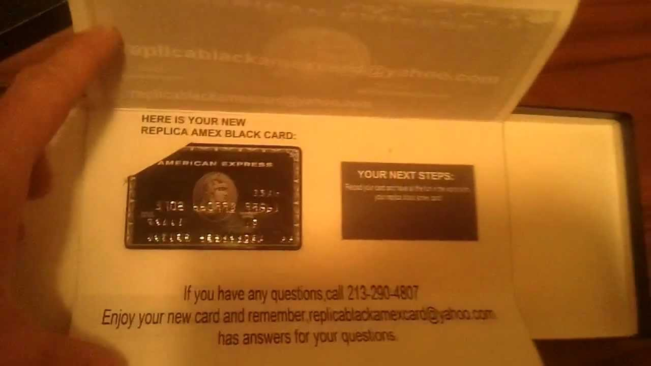 UNBOXING THE REPLICA BLACK AMEX...WOW...http://therealblack.webeden ...