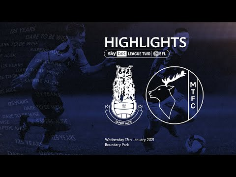 Oldham Mansfield Goals And Highlights