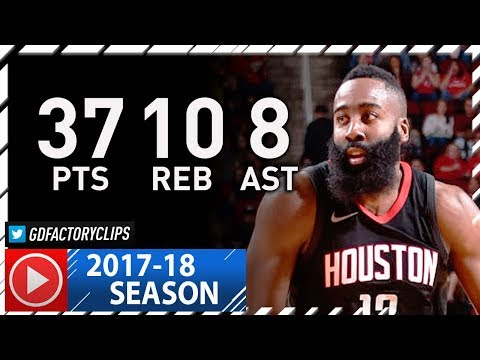 James Harden Full Highlights vs Nets (2017.11.27) - 37 Pts, 10 Reb, 8 Ast, NASTY!