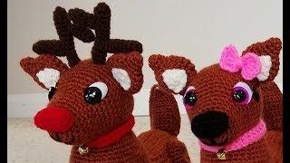 Crochet Adorable Amigurumi Reindeer Part 1 of 3 DIY Video Tutorial