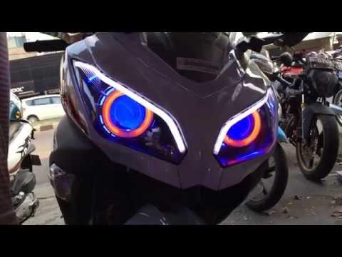 modifikasi lampu ninja 250 fi terkeren