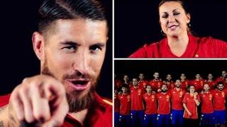 """Sergio Ramos Ft Niña Pastori """"La Roja Baila"""" Himno Oficial De La Seleccion Española UEFA EURO 2016"""