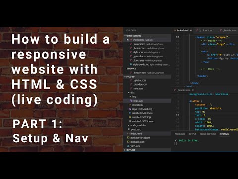 Build A Responsive Website With HTML & CSS - Part 1 [Live Coding]