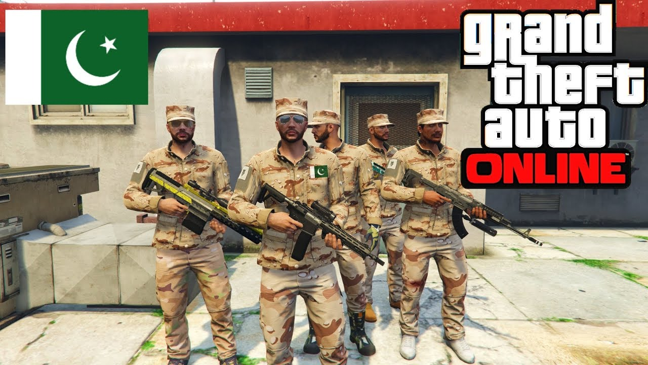 GTA 5 Real Life Online - 'Pakistan Rangers Raid' Role Play with Friends | Gta V Online