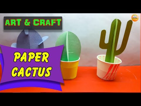 DIY paper cactus   How to Make Easy paper cactus     Art & Craft    Open Mind 🎊