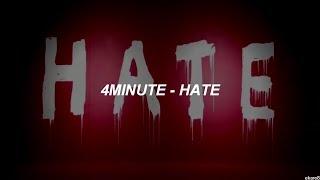 Hate de 4MINUTE subtitulada al español. ¡Descarga el fondo del víde...