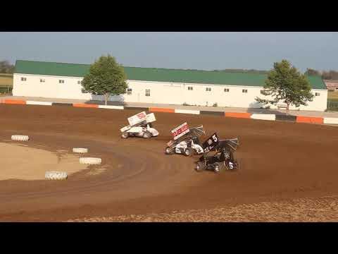 Brian Smith heat race from Attica Raceway Park 8-23-2014