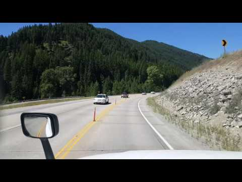 BigRigTravels - Interstate 90 Westbound from St Regis, Montana to Idaho Mile Marker 24-July 20, 2016