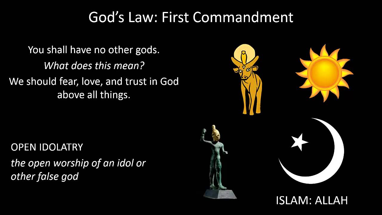 God's Law: The First Commandment - YouTube