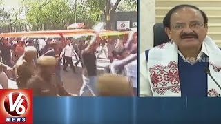 Union Minister Venkaiah Naidu Responds On Ramjas College Students Clashe   Delhi   V6 News