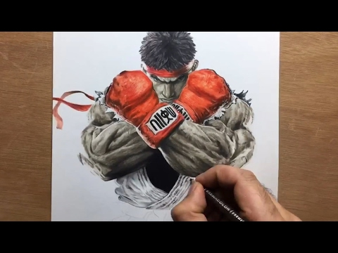 Drawing Ryu Street Fighter Timelapse Artology Youtube