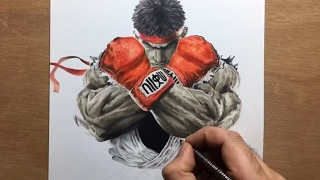 Speed Drawing Ryu - Street Fighter Timelapse | Artology
