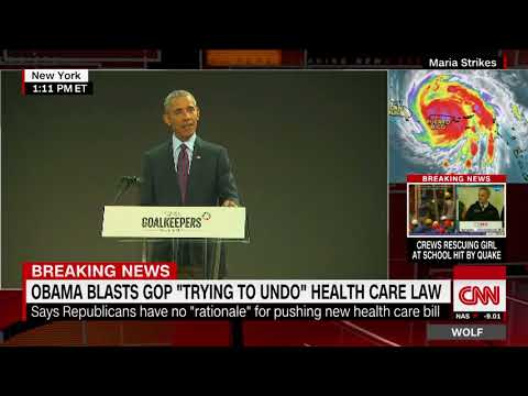 Obama slams GOP attempts to repeal Obamacare