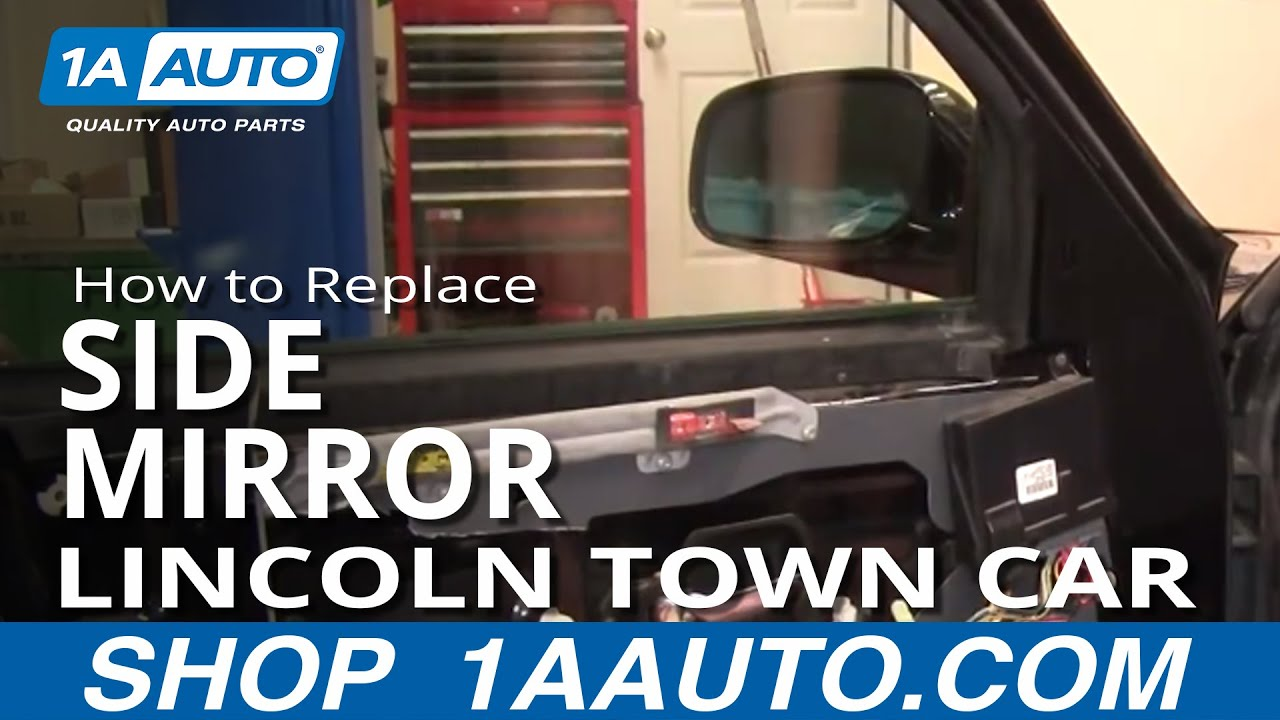 how to replace mirror 98 02 lincoln town car [ 1280 x 720 Pixel ]