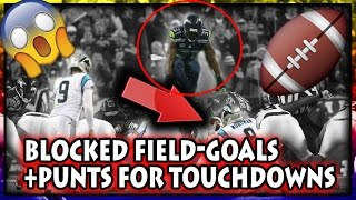 Blocked Field Goals/Punts For Touchdowns (Football, NFL)