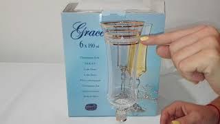 Набор для шампанского 190мл-6шт Bohemia Grace (M8468) - обзор