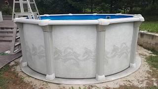 видео Овальный бассейн Atlantic Pool Гибралтар J-4000 (5.5х3.7х1.35)