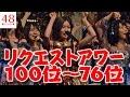 【AKB48グループ】リクエストアワー セットリストベスト100 2017 100位〜76位…