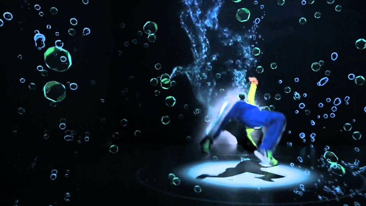 3d Laser Wallpapers Break Dance With Video Mapping Youtube