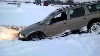 VW T4 and VOLVO XC 70 snow fun and problems (with volvo of course)