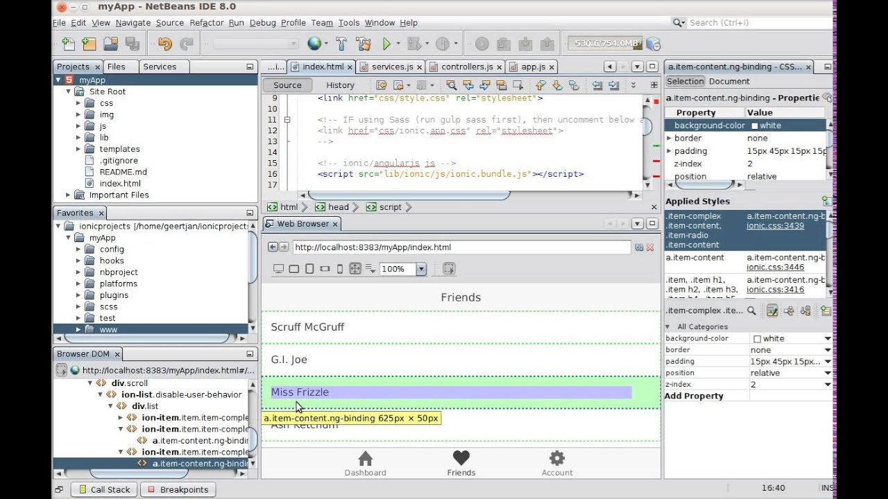 YouTube: AngularJS for Cordova via Ionic and NetBeans   Oracle