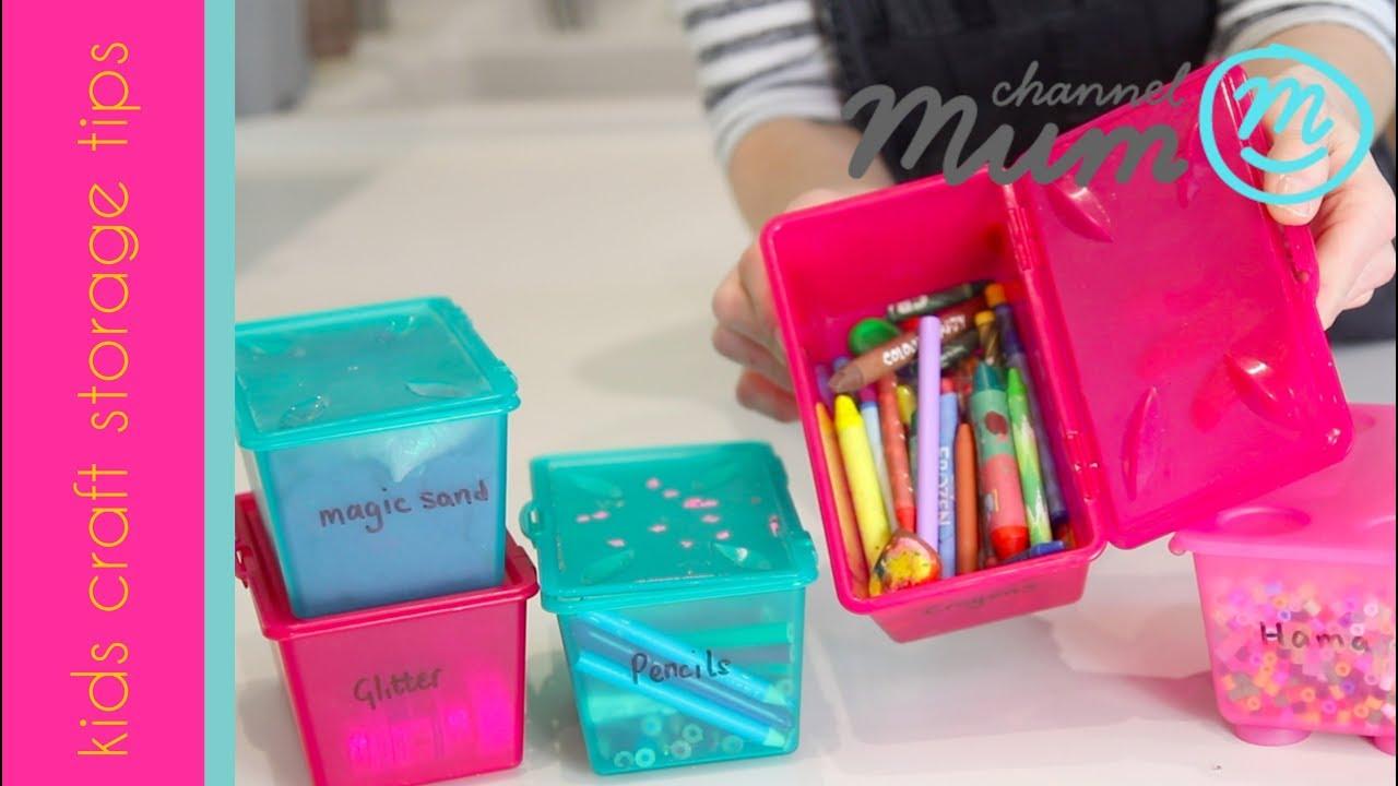 Kids Craft Storage Tips   YouTube