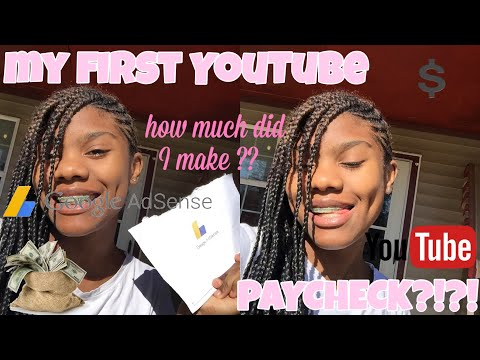 My first YouTube paycheck + how much did I make ?