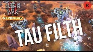 F**K TAU. Dawn of War II: Retribution Vengeance of the Blood Ravens Mod Gameplay