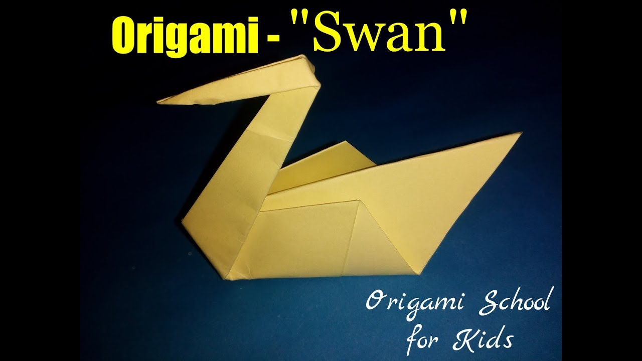 origami swan how to make a paper swan origami school