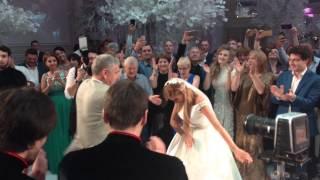 Ксения Бородина Танцует лезгинку на собственной свадьбе