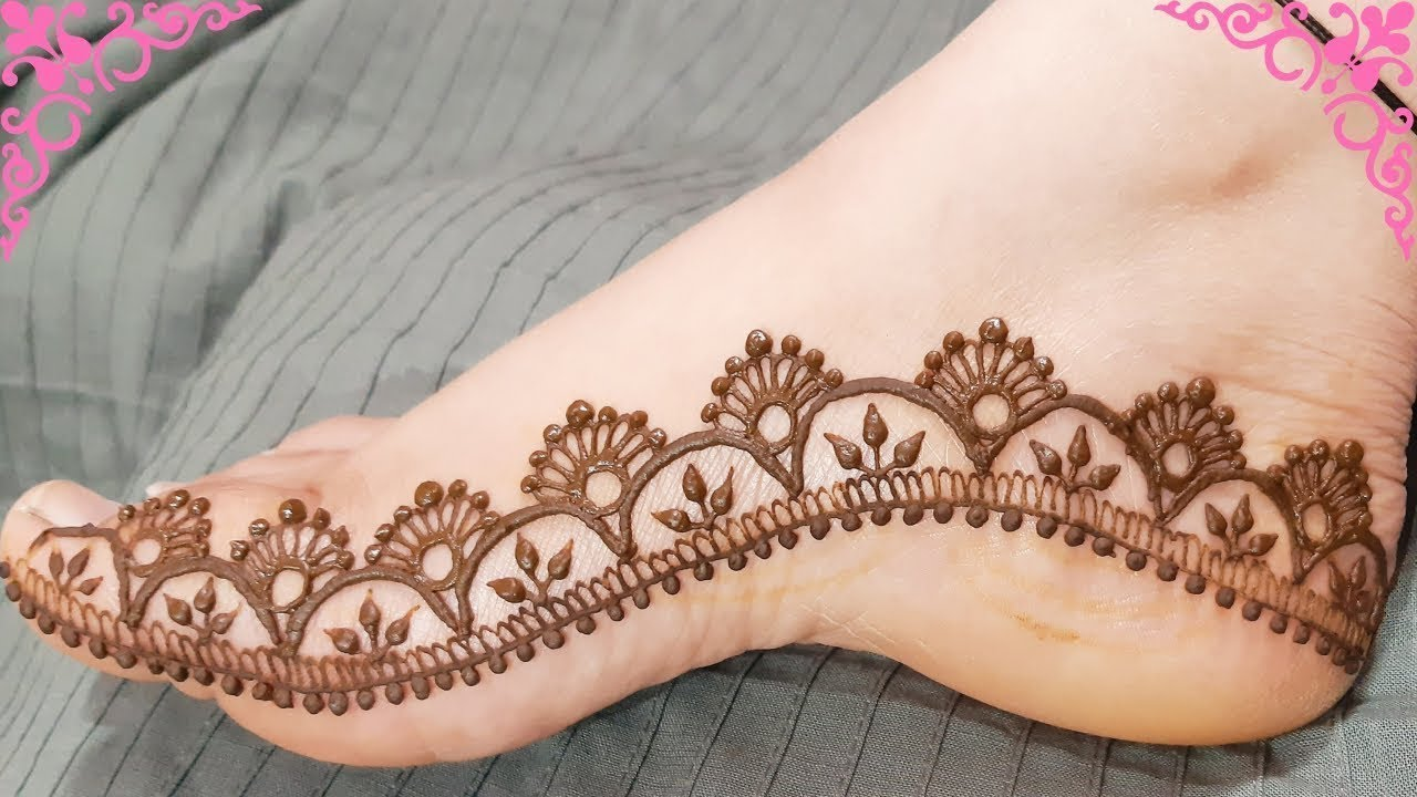 simple easy foot mehndi design