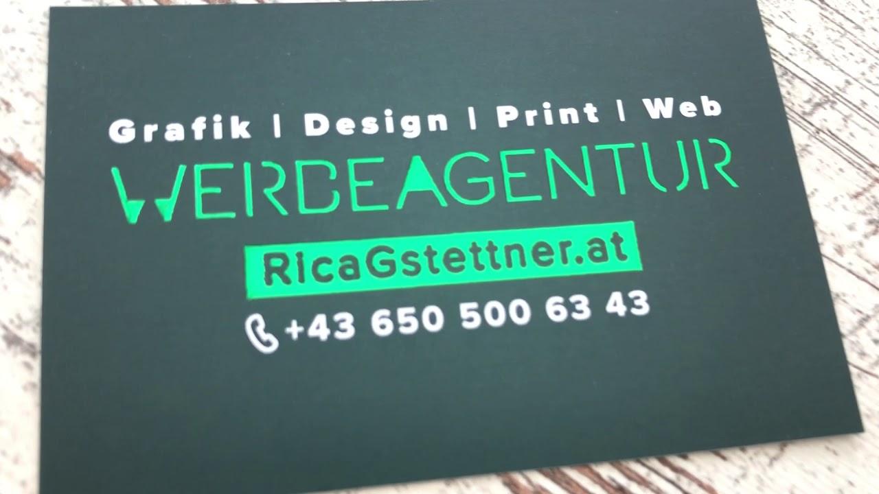 Visitenkarten Werbegrafikerin Rica Eder