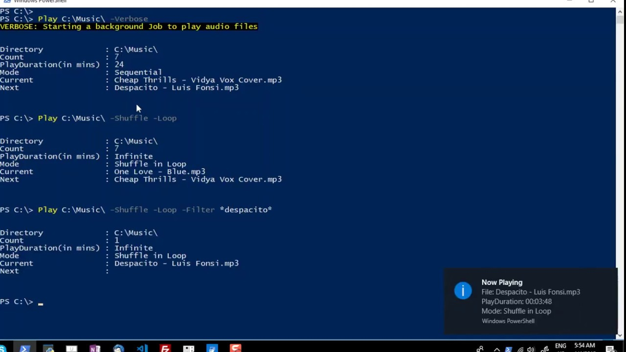 PowerShell Module to Play Music, Shuffle and Loop | RidiCurious com