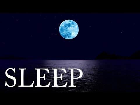 Sleep Music and Water Relaxation - Relaxing Sea and Moon Scenery