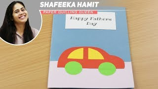 DIY - FATHER'S DAY CARD - EASY TUTORIAL FOR KIDS