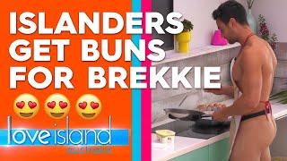 Gerard shocks his fellow Islanders by baring it all in the kitchen | Love Island Australia 2019