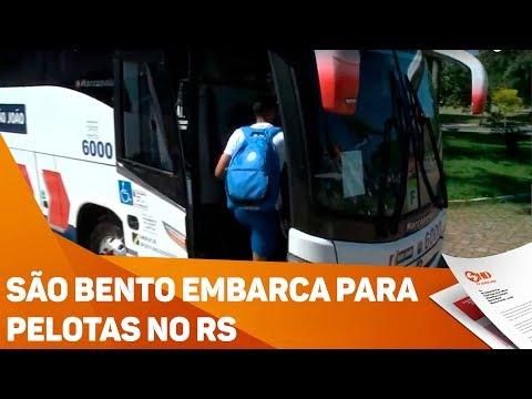 São Bento embarca para Pelotas no RS - TV SOROCABA/SBT