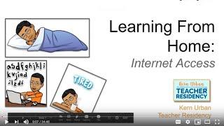 K12 Online Teaching Webinars: Learning From Home – Internet Access