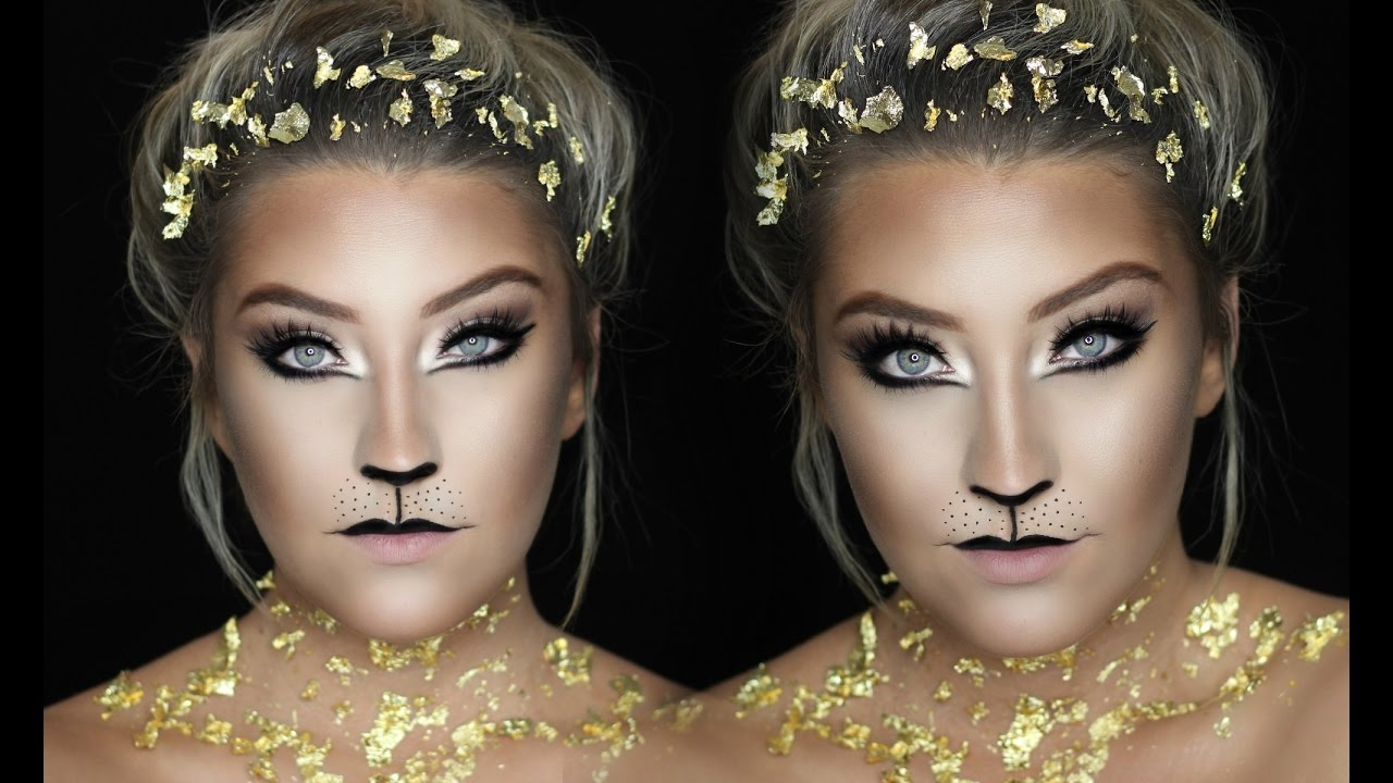 GOLD LION | Easy Last Minute Halloween Makeup | 31 DAYS OF ...