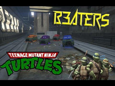 GTA 5 Online NINJA TURTLES Trailer! Teenage Mutant Ninja Turtles GTA Rescue Team! (GTA 5 Gameplay)