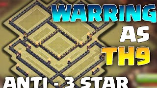 "THANKS FOR 1K! Clash of Clans - INSANE TH9 War base + REPLAYS! ""Best ANTI - 3 STAR Base!"""